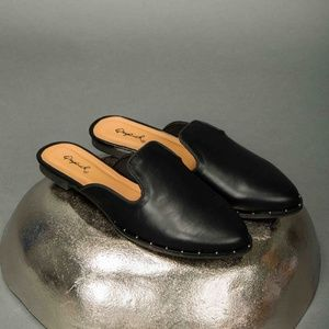 Shoes - Studded Black Mules